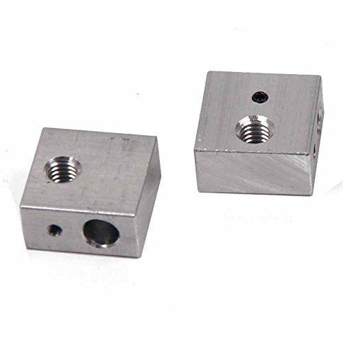 Signstek 2 PCS Aluminum Heater Block M6pecialized for MK7 MK8 Makerbot 3D Printer Extruder - http://3dprintdays.com/signstek-2-pcs-aluminum-heater-block-m6pecialized-for-mk7-mk8-makerbot-3d-printer-extruder/