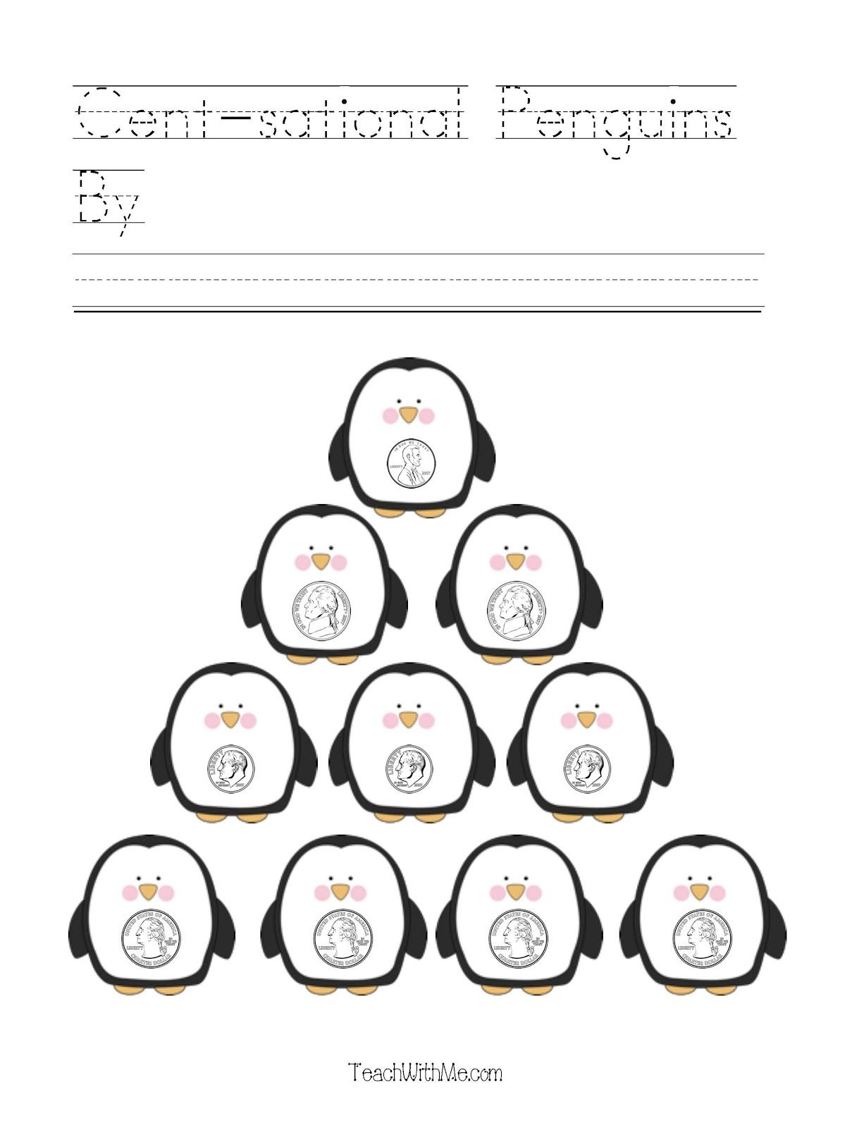 Cent Sational Penguins Coin Packet
