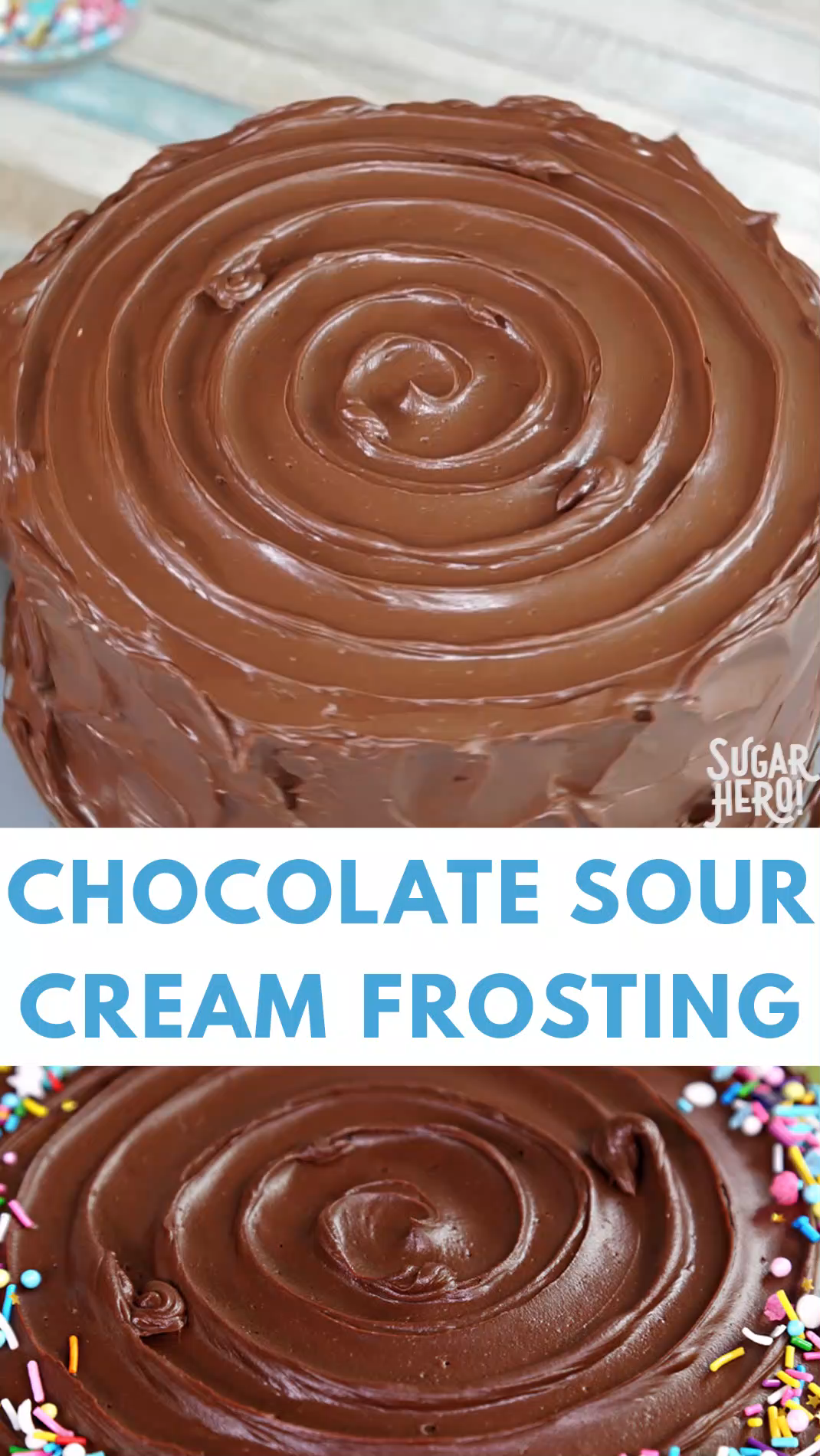 Chocolate Sour Cream Frosting Video