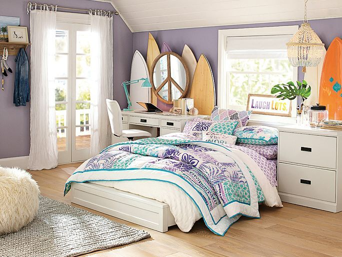 i love the pbteen paramount floral surf bedroom on pbteencom