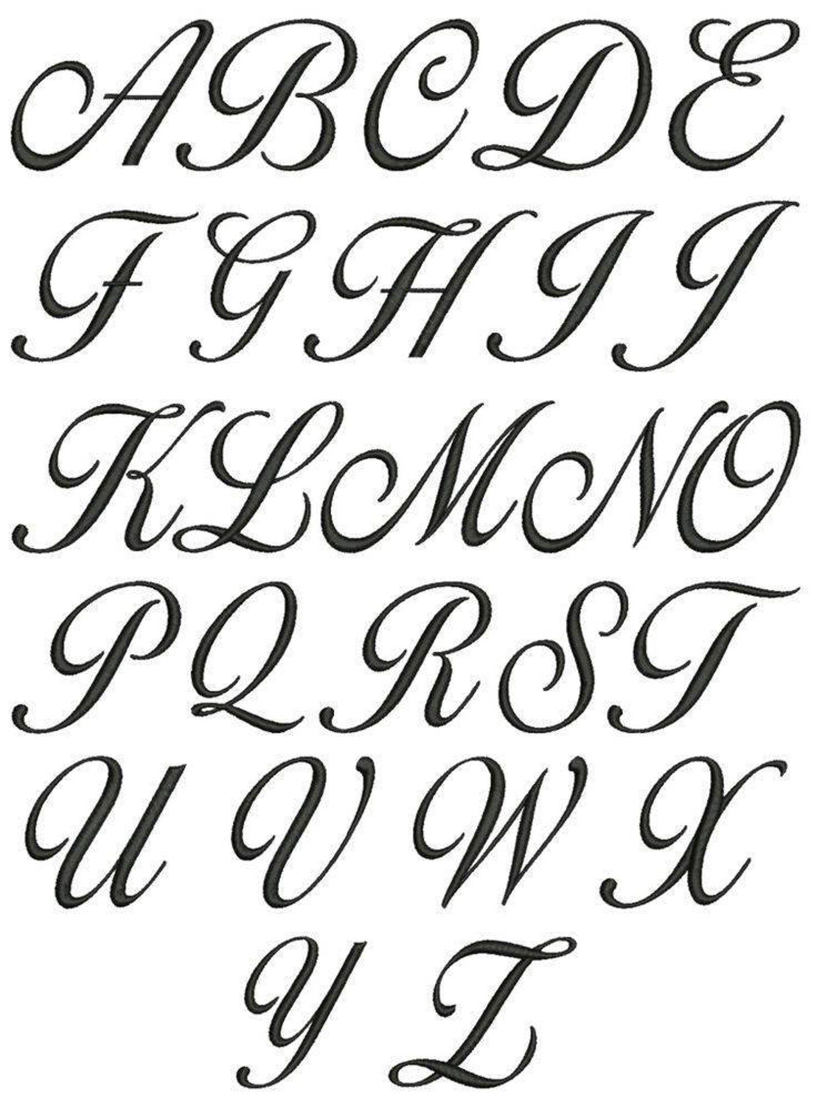 Capital Cursive A : capital, cursive, Corsiva, Alphabet, Vinyl, Decals, Cursive, Fonts, Alphabet,, Lettering, Calligraphy
