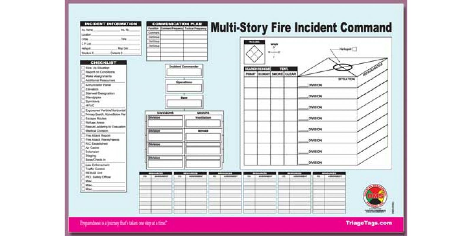 Incident Command Worksheet Pad