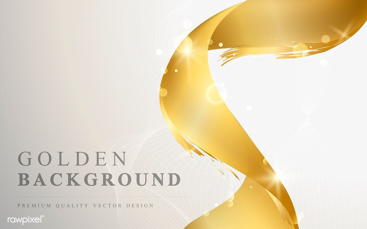 Golden Wave Abstract Background Vector Free Image By Rawpixel