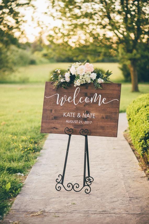Wedding Welcome Sign - Wood Wedding Sign - Rustic Wedding Decor #weddingwelcomesign
