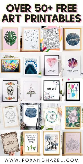 Decorate your home in a snap with over 50+ FREE art printables from Fox + Hazel. From watercolor florals to modern art prints, there are all kinds of free art prints for your home. #foxandhazel #freeartprints #freeartprintables #freewallart #printablewallart #50freeprintables