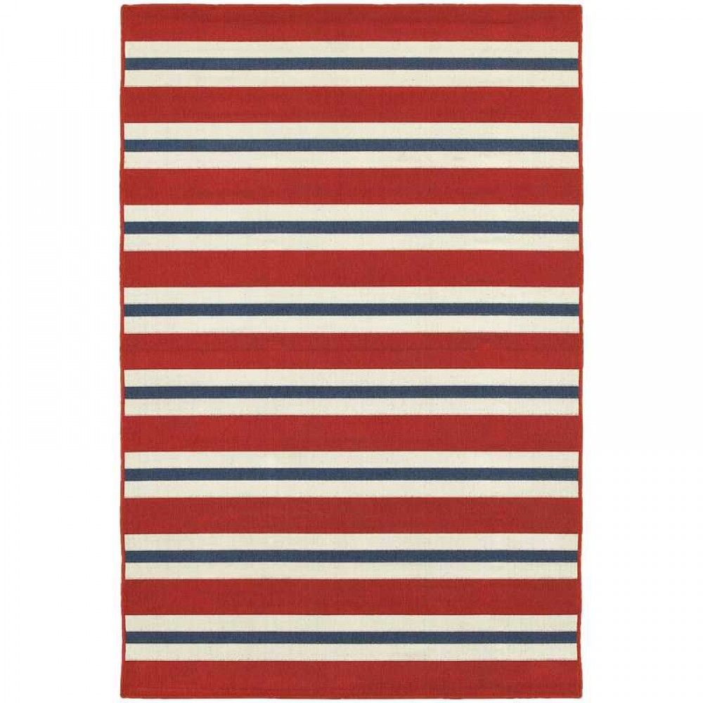 Red White And Blue Striped Area Rug From Dolphin Carpet Tile