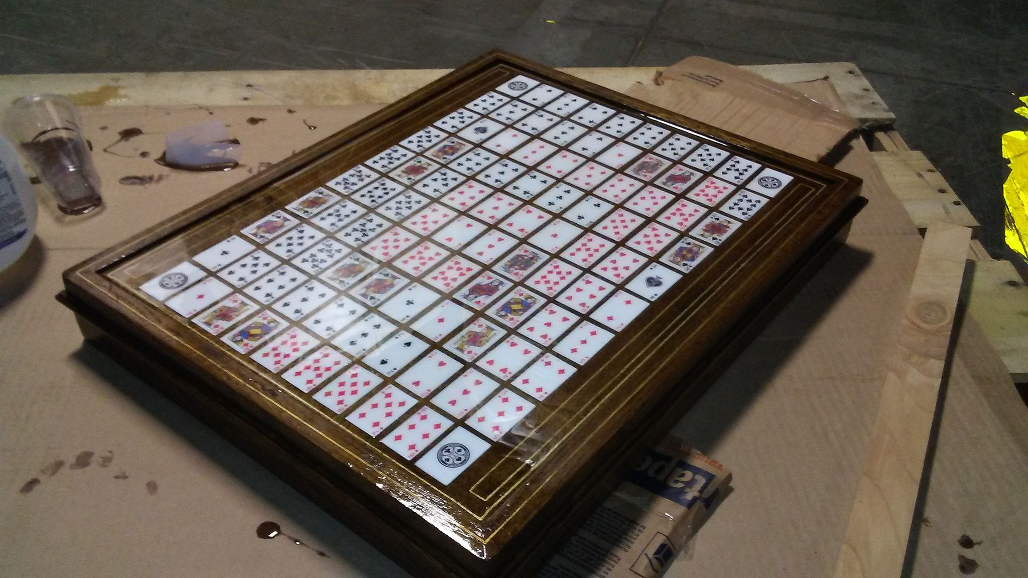 Sequence game homemade epoxy Sequence game, Games
