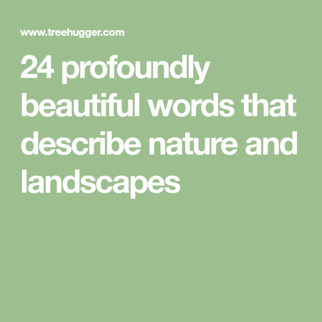 words to describe beautiful scenery