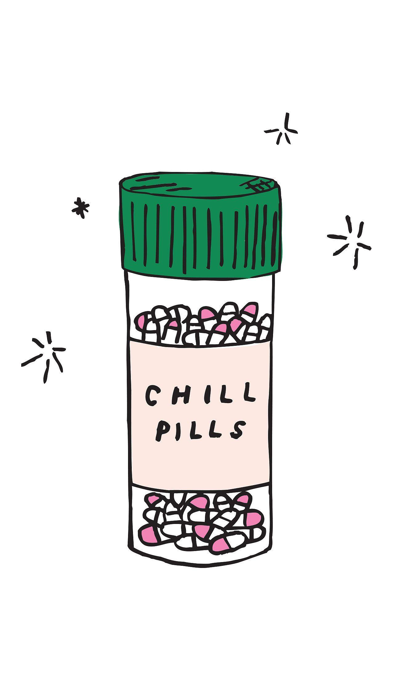 Chill Pills Illustrations Iphone Wallpaper Wallpaper Iphone 6