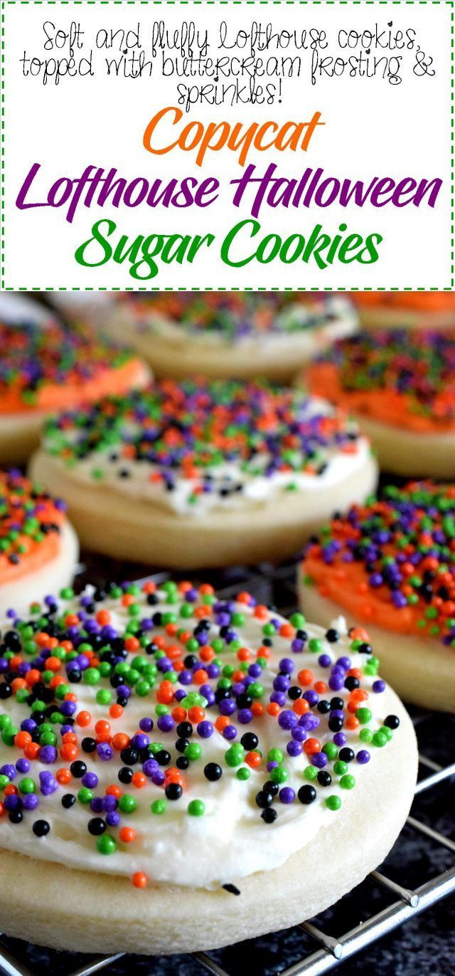 Copycat Lofthouse Halloween Sugar Cookies - Lord Byron's Kitchen