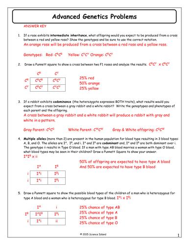Monster Inc Genetics Worksheet Answers