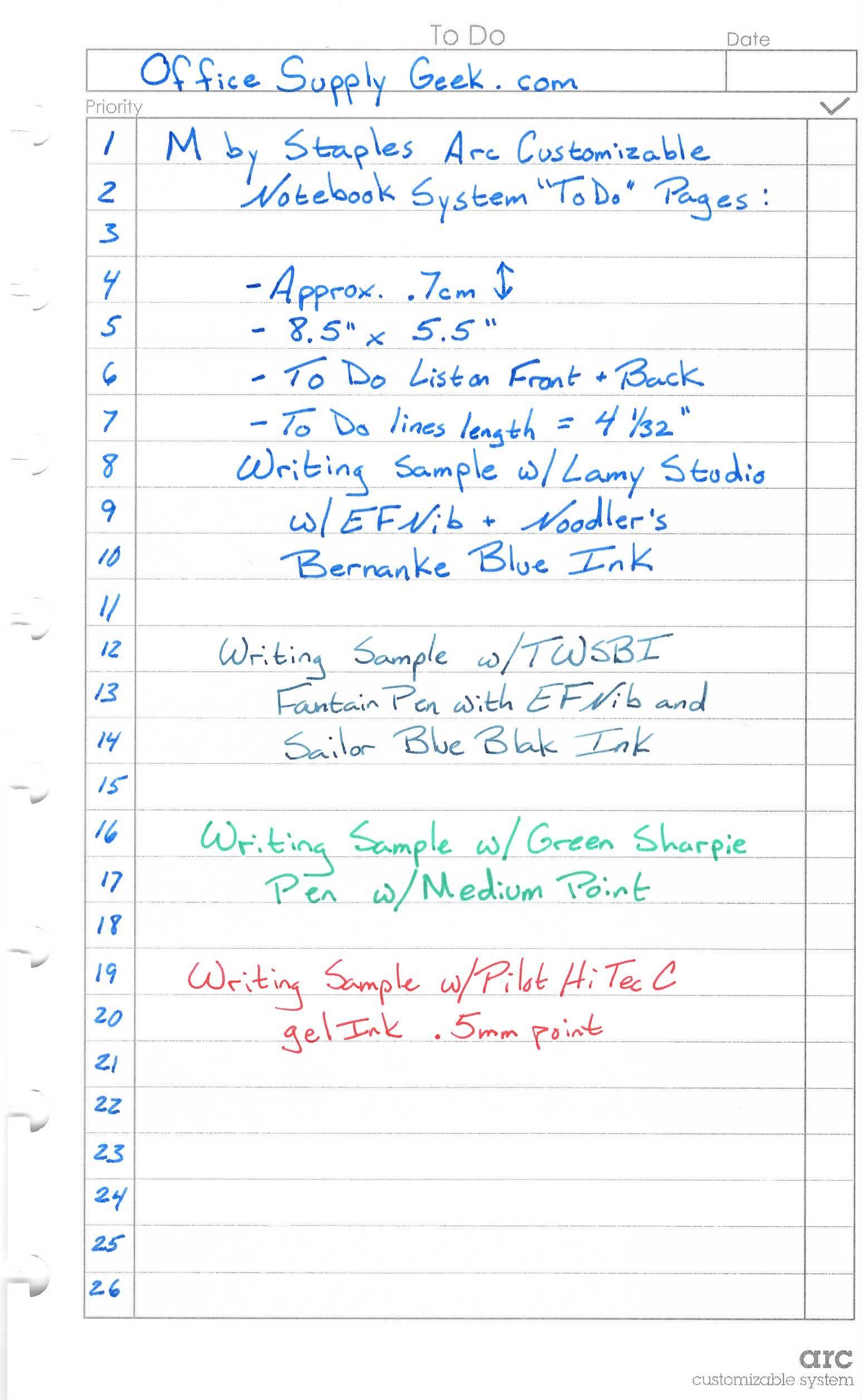 staples arc system to do list writing sample organization