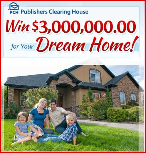 Win 3 Million Dollars For Your Dream Home Pch Sweepstakes With