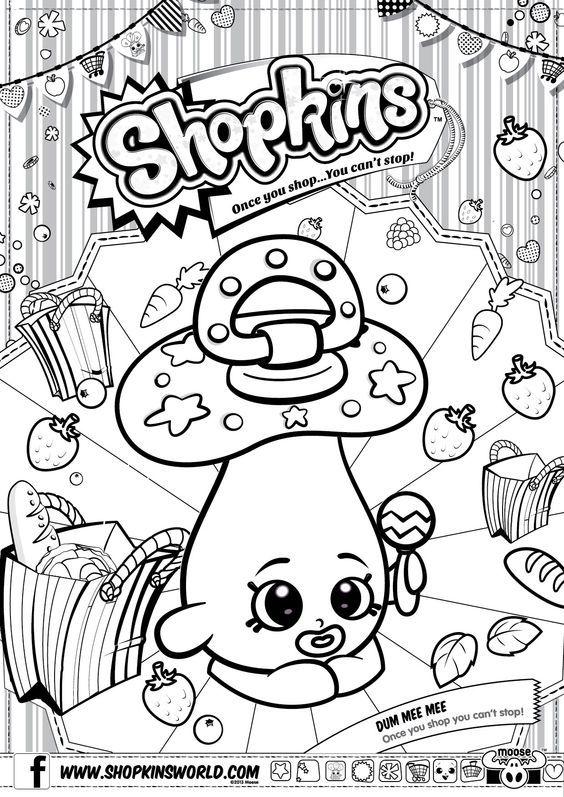 Shopkins Colour Color Page Dum Mee ShopkinsWorld
