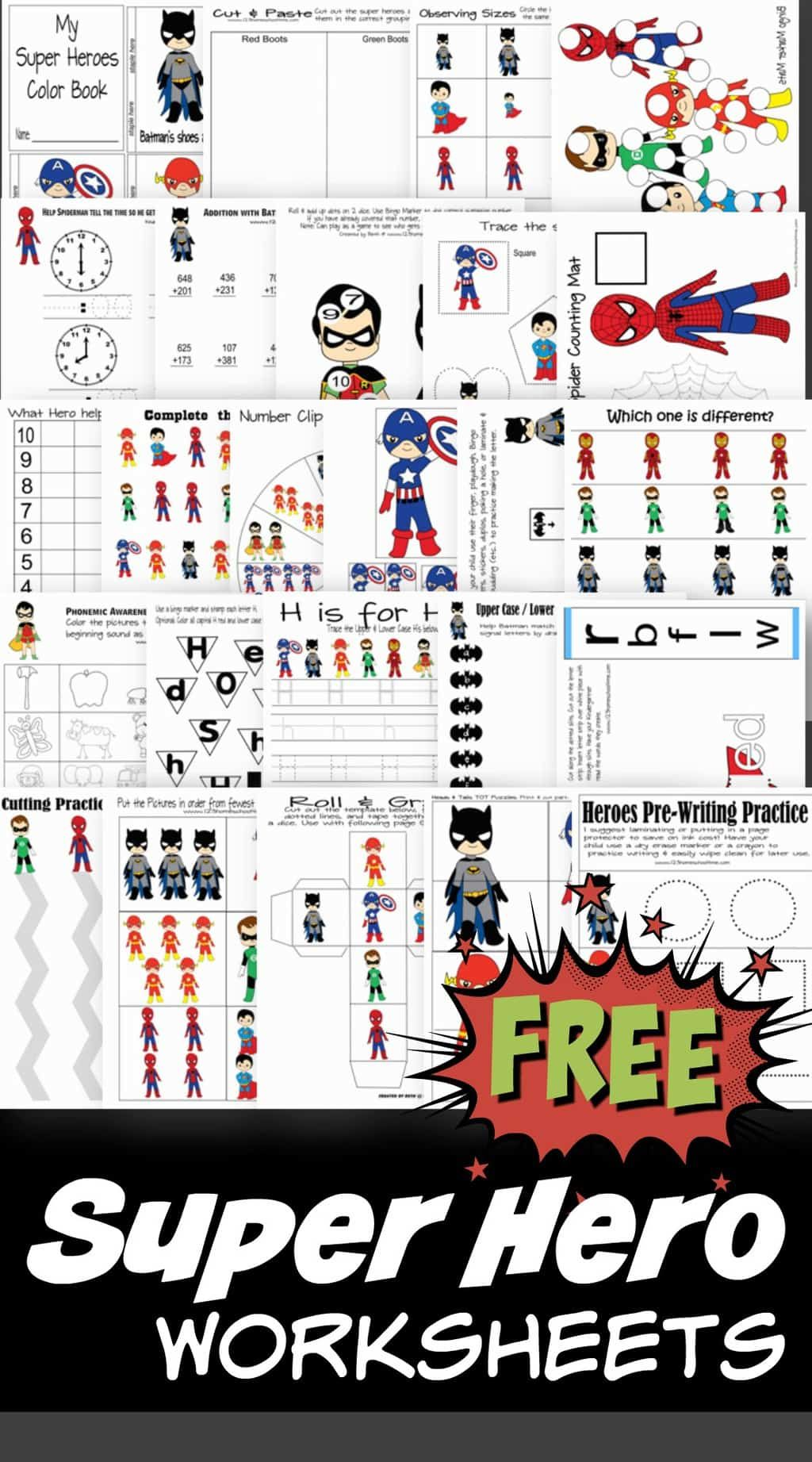 Predownload: Free Superhero Worksheets Free Preschool Printables Superhero Preschool Preschool Printables [ 1843 x 1024 Pixel ]