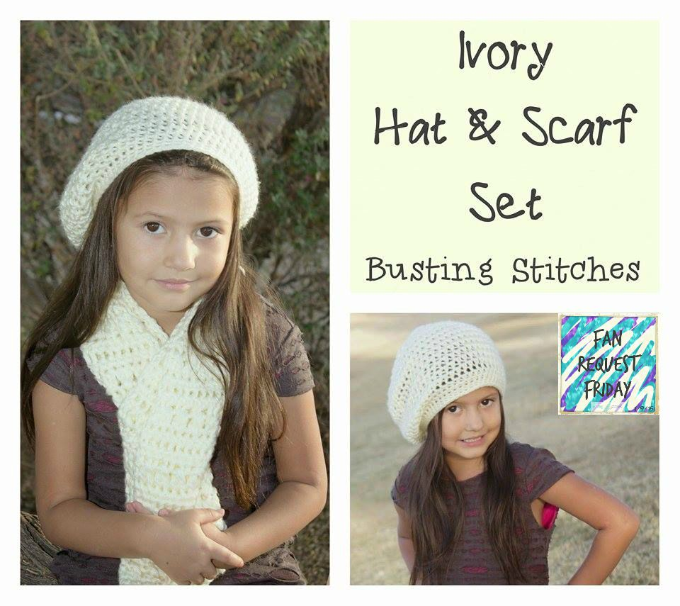 Ivory Hat & Scarf Set, free crochet pattern in child and adult size ...