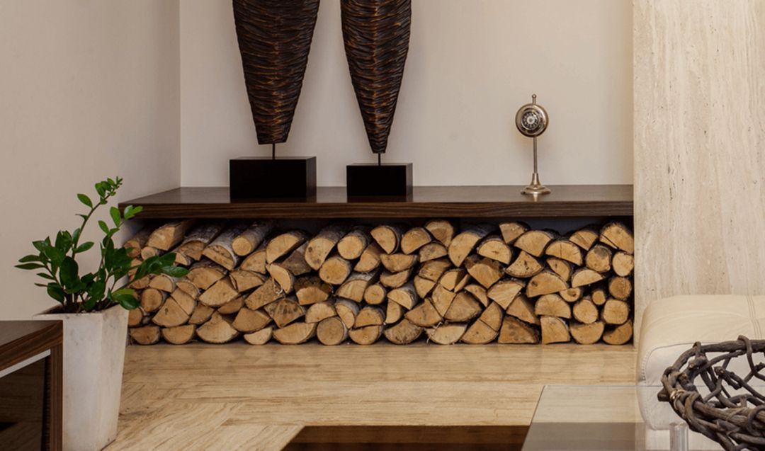 11 Incredible Indoor Firewood Storage Ideas You Have To See Firewood Storage Indoor Firewood Storage Wood Storage #wood #cabinets #living #room