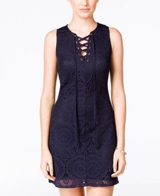 79f7482182e03 Crystal Doll Juniors' Lace Sheath Dress - Dresses - Juniors - Macy's ...