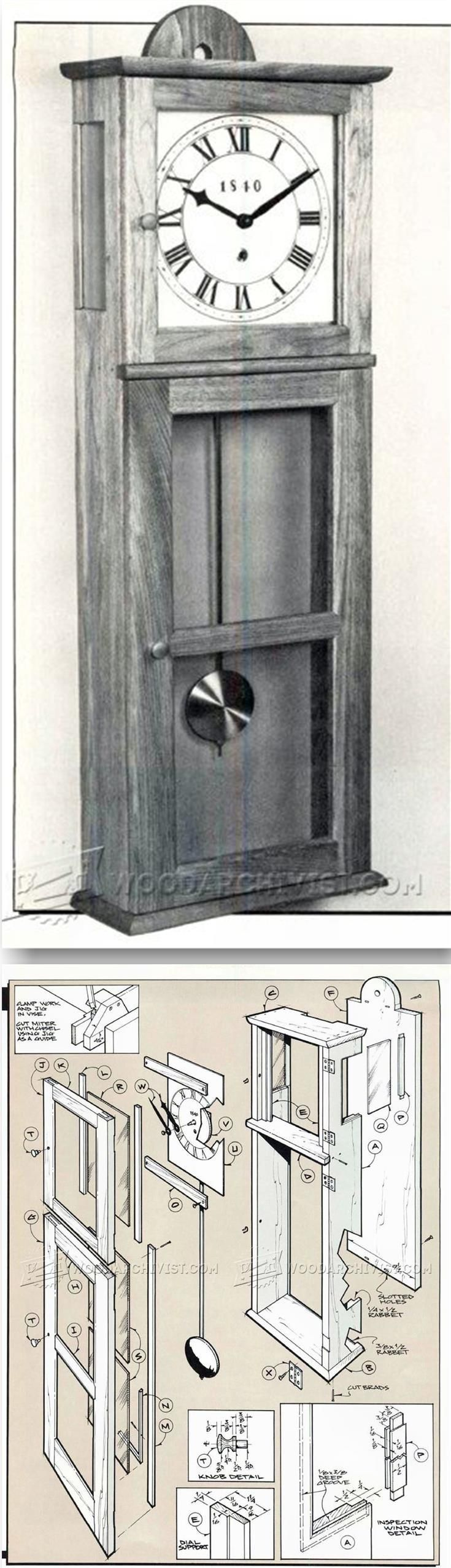Shaker wall clock plans woodworking plans and projects shaker wall clock plans woodworking plans and projects woodarchivist amipublicfo Image collections