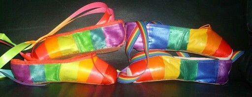 Rainbow toe shoes