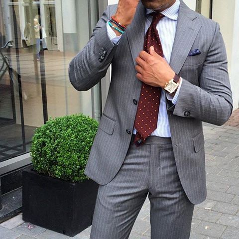 Love a good grey pinstripe.  Great investment because it is classic and timeless.
