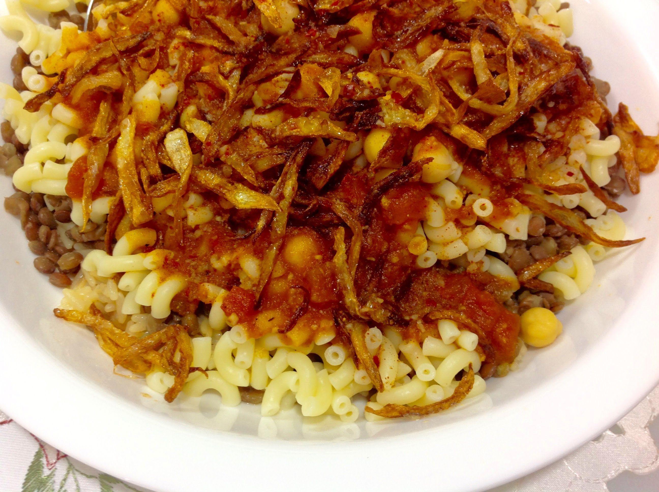 Egyptian lentil rice pasta koshari middle eastern food drink egyptian lentil rice pasta koshari koshari recipeveggie forumfinder Images
