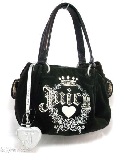 excellent quality quality design more photos Juicy Couture Purse Handbag Daydreamer Velour Brown ...
