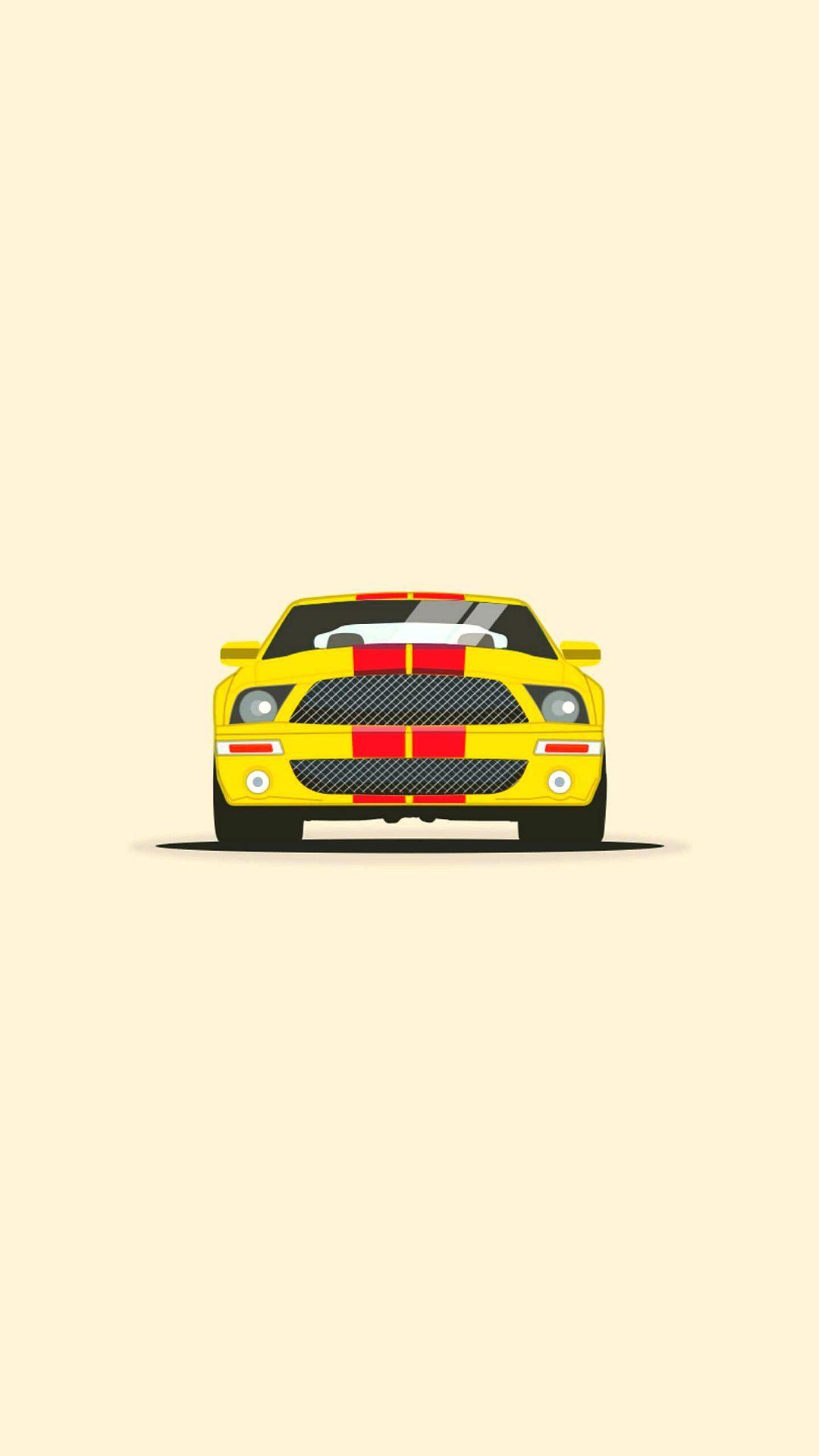 Mustang Minimal Wallpaper 1080x1920 Mustang Wallpaper Ford Mustang Wallpaper Hd Wallpaper Iphone