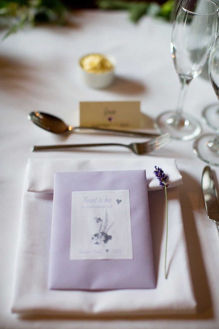 Seed Favours Lavender Place Setting Natural Ethereal Purple Wedding ...