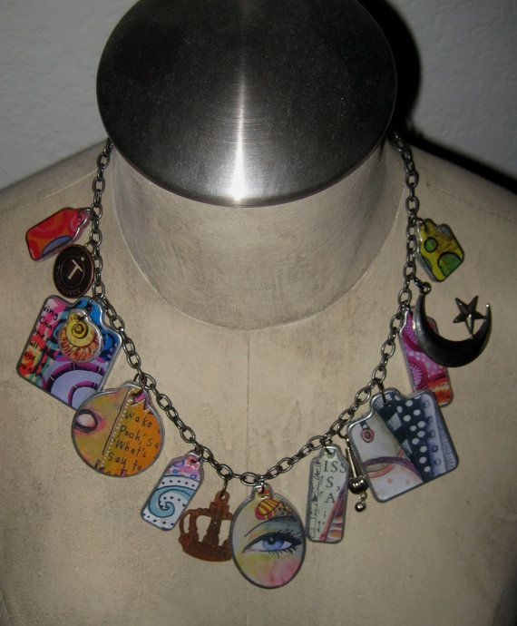 Teesha Moore inspired Fragment eclectic necklace I made.