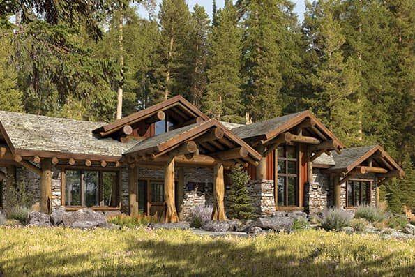Truckee Rustic Log Home Floor Plan Cabin Style Homes Log Home Floor Plans Log Cabin Homes