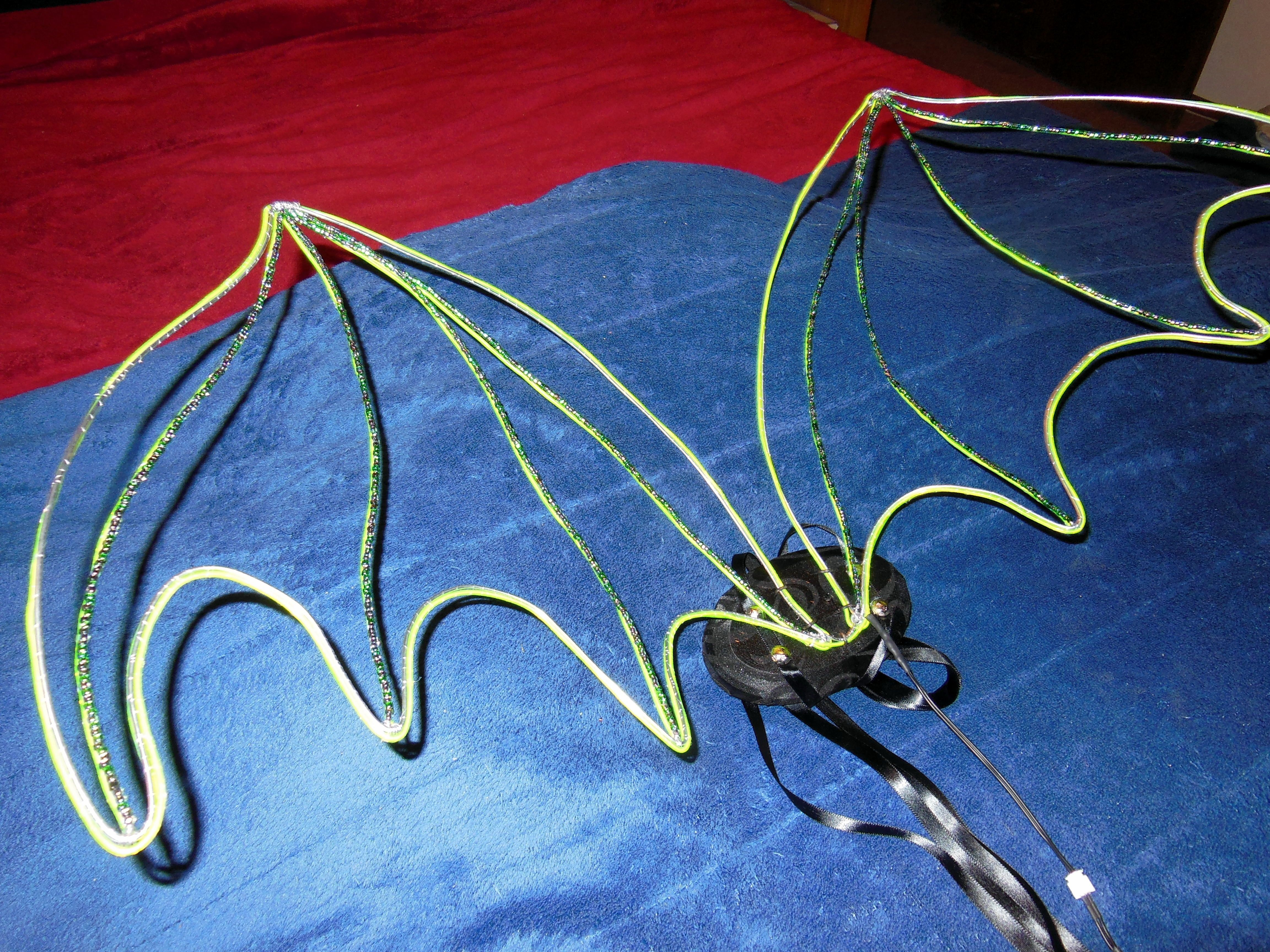 New dragon wings without the el wire lit up | Halloween Party ...