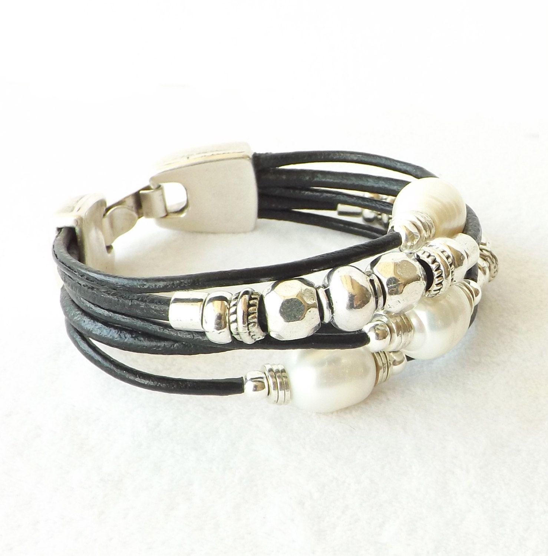 black leather bracelet sundance style leather cuff cuff. Black Bedroom Furniture Sets. Home Design Ideas