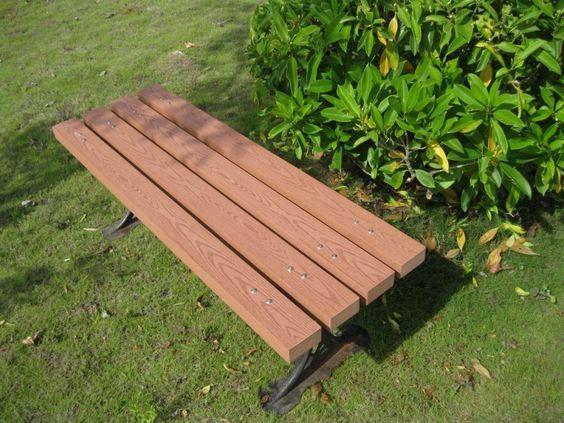 Box Bench Overhang For Comfort Outdoor Bench Outdoor Wood Plastic Composite