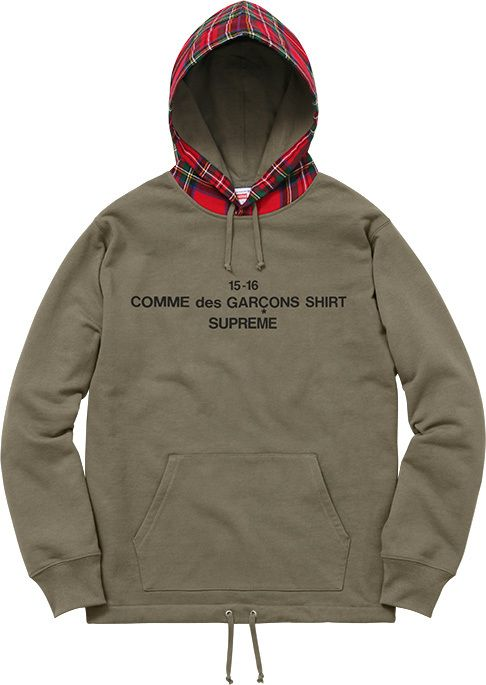 Supreme Comme Des Garcons Shirt Supreme Hooded Sweatshirt Cotton French Terry Fleece Wool Supreme Clothing Supreme Hoodie Comme Des Garcons Shirt