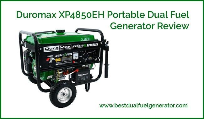 duromax xp4850eh portable dual fuel generator review powered