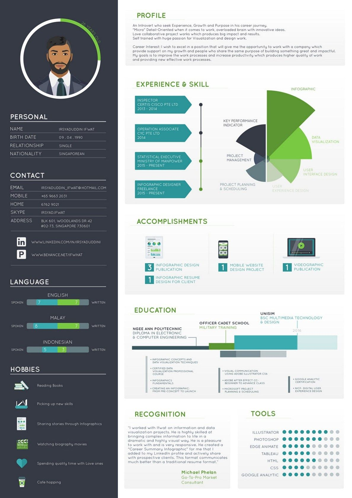70 infographic resume ideas for examples Graphic resume