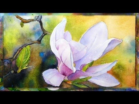 How To Paint The Magnolia Flower Watercolor Painting Part 1