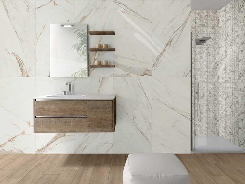carrelage effet marbre blanc 60x60