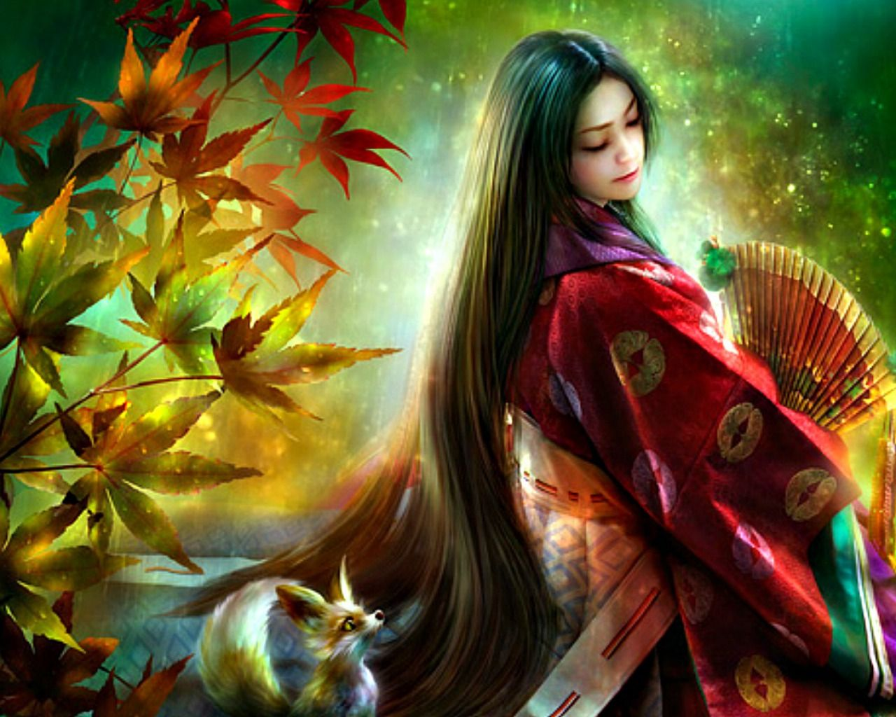 Autumn grace autumn fantasy pinterest more 3d - 3d fantasy wallpaper ...