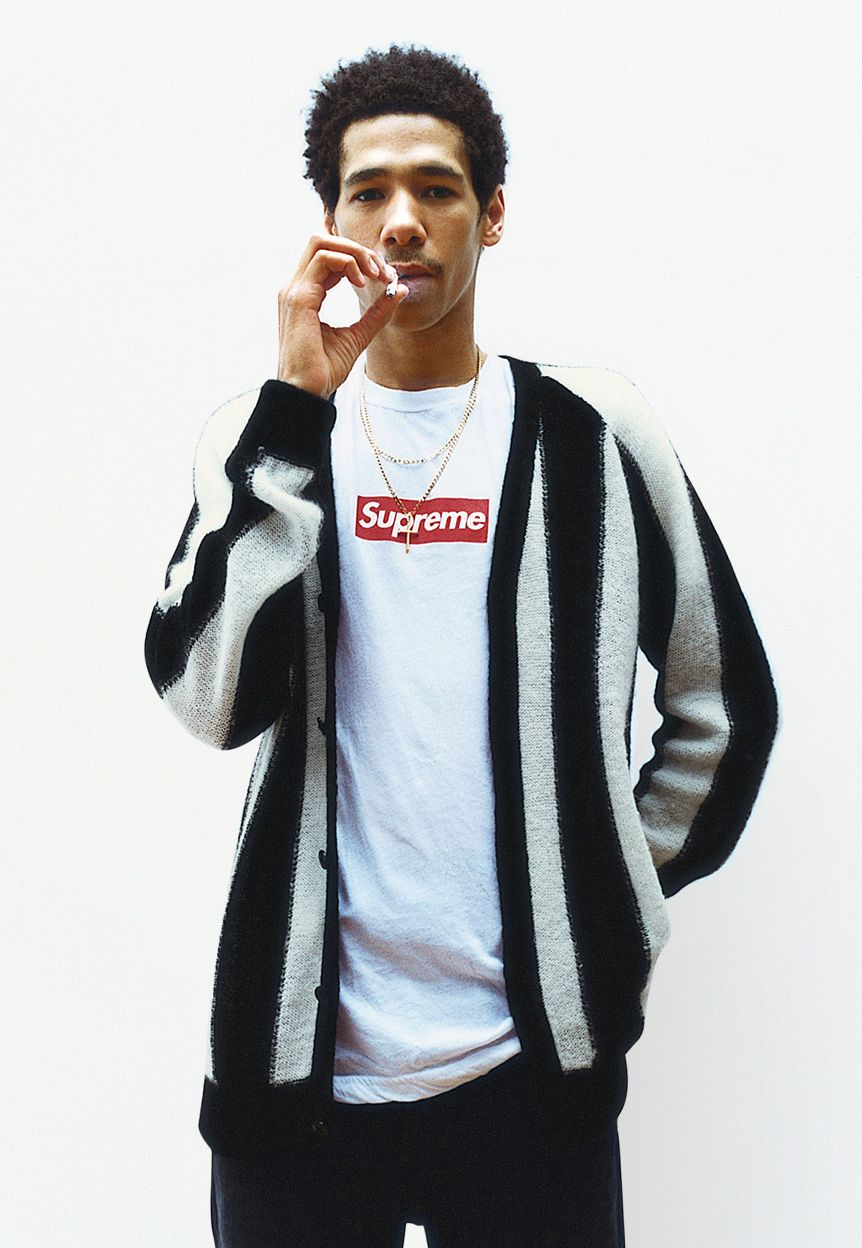 f5e0d3b91b9 striped mohair cardigan - supreme | Menswear | Fashion, Supreme ...