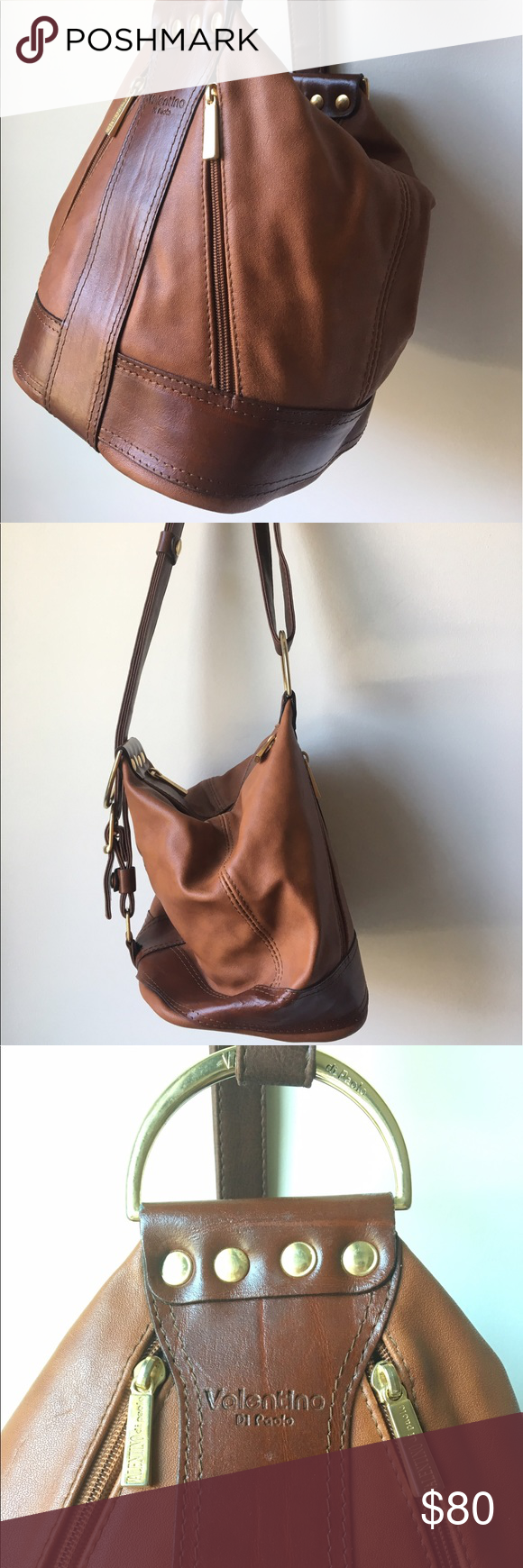 Vintage Valentino Di Paolo Brown Leather Bag Vintage Valentino Di Paolo Brown Leather Bag The Style Of Vintage Leather Bag Bucket Bag Style Brown Leather Bag