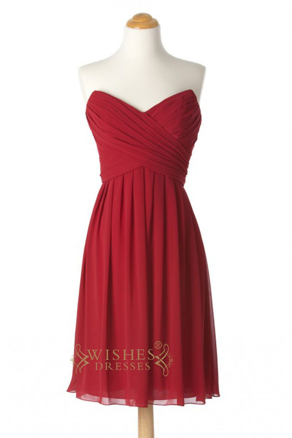 A line red chiffon knee length bridesmaid dresses am260 red a line red chiffon knee length bridesmaid dresses am260 ombrellifo Image collections