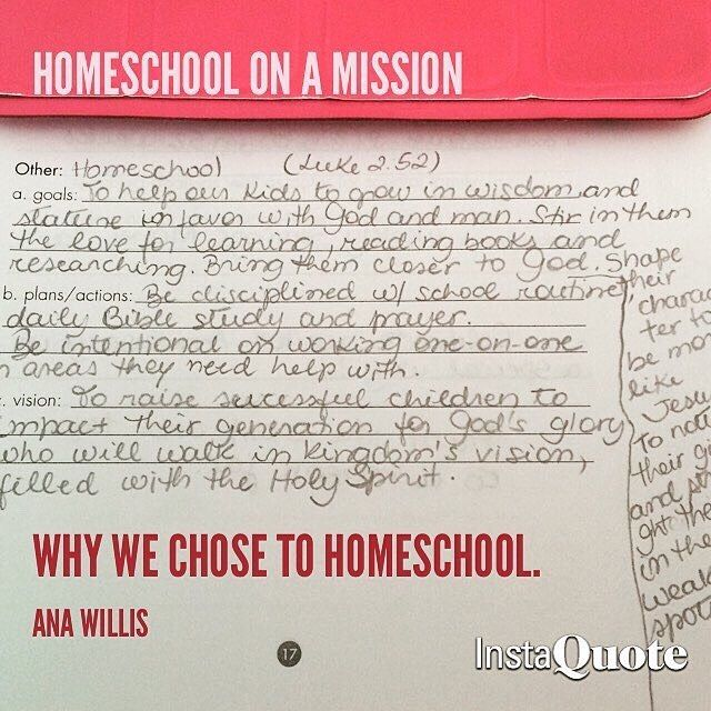 I Often Get Asked Why We Chose To Homeschool. Well, Here