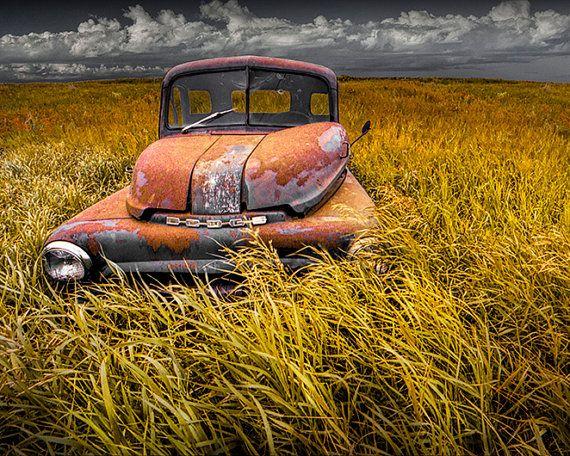 Auto abandonado foto Set de 4 fotografías por RandyNyhofPhotos