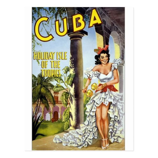 Cuba Vintage Travel Tourism Ad Postcard | - -