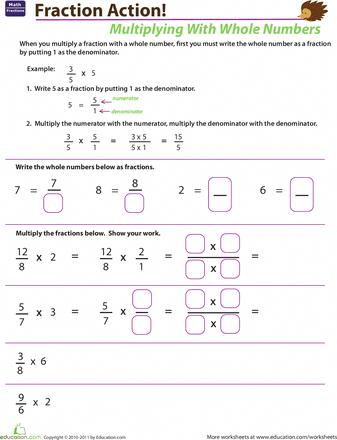 Homework helper multiplying fractions
