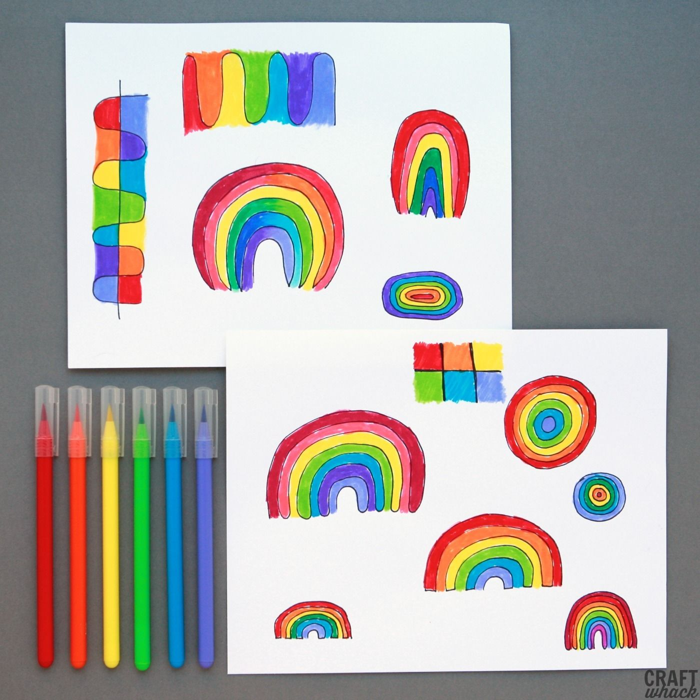 Pages Of Rainbow Doodles