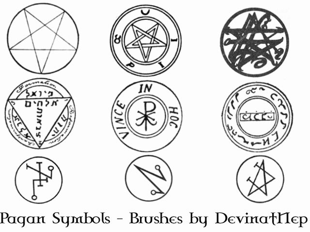 Wicca Symbols And Signs Pagan Symbols Brushes 70 By Deviantnep