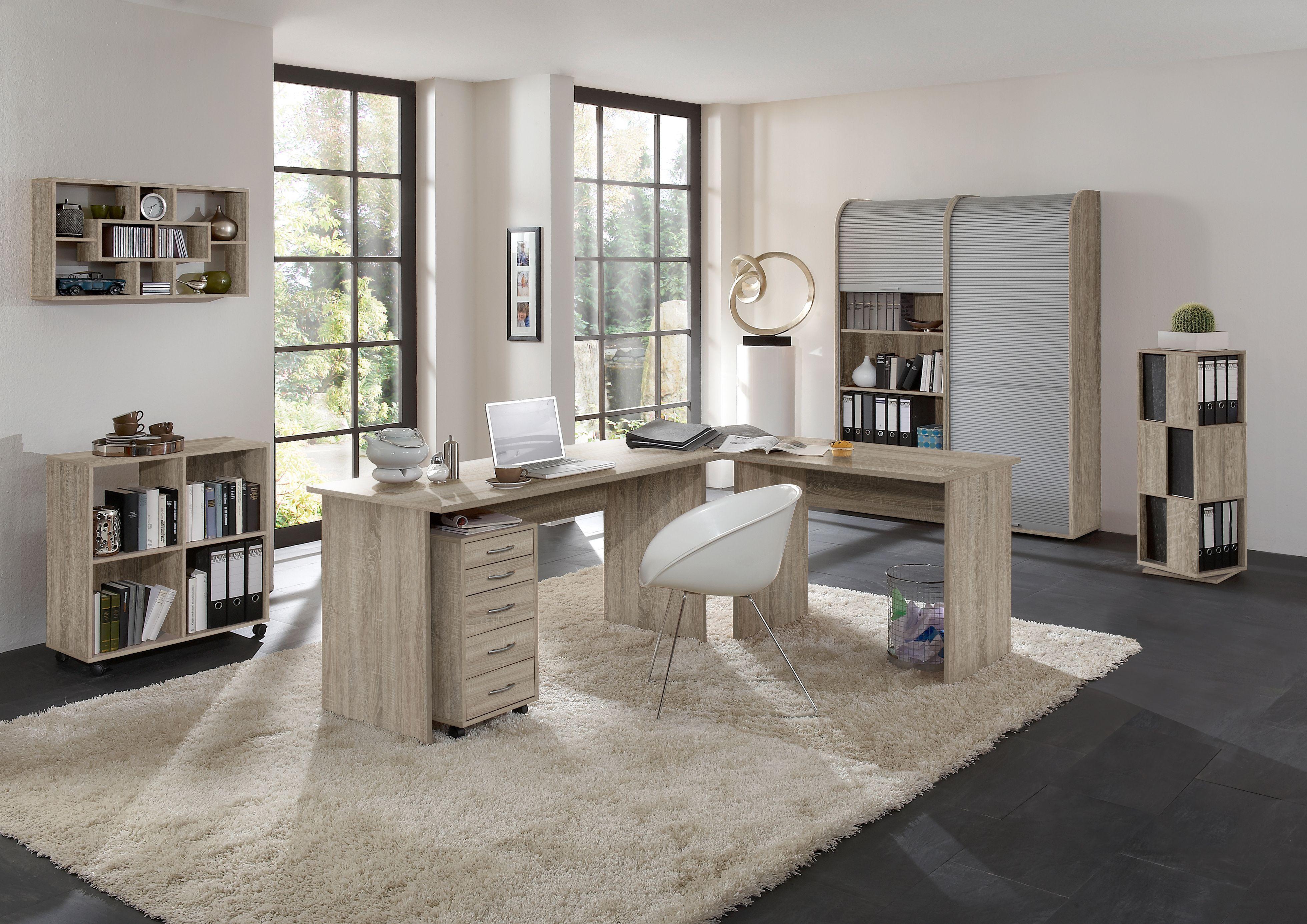 Büromöbel Modern büromöbel set eiche nachbildung bestehend aus schreibtisch